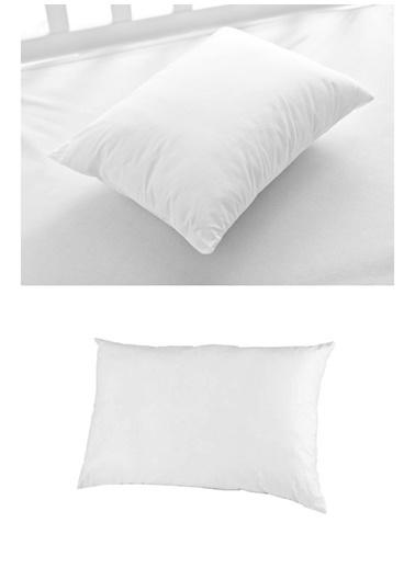 Xolo Fermuarlı Boncuk Silikon Yastık 50x70 Beyaz
